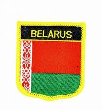 Parche Termoadhesivo Bandera escudo Bielorrusia 7x6 cm