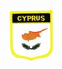 Parche Termoadhesivo Bandera escudo Chipre 7x6 cm