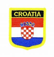 Parche Termoadhesivo Bandera escudo Croacia 7x6 cm
