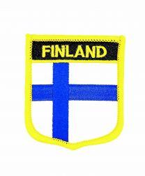 Parche Termoadhesivo Bandera escudo Finlandia 7x6 cm