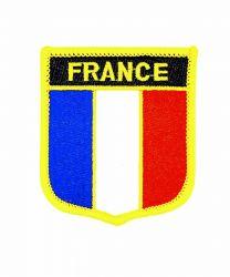 Parche Termoadhesivo Bandera escudo Francia 7x6 cm