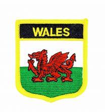 Parche Termoadhesivo Bandera escudo Gales 7x6 cm