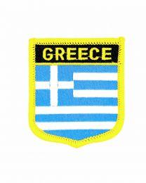 Parche Termoadhesivo Bandera escudo Grecia 7x6 cm