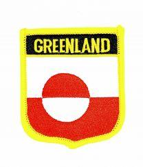 Parche Termoadhesivo Bandera escudo Groenlandia 7x6 cm