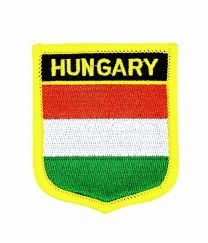 Parche Termoadhesivo Bandera escudo Hungria 7x6 cm