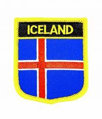 Parche Termoadhesivo Bandera escudo Islandia 7x6 cm