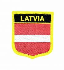 Parche Termoadhesivo Bandera escudo Letonia 7x6 cm