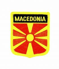 Parche Termoadhesivo Bandera escudo Macedonia 7x6 cm