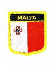 Parche Termoadhesivo Bandera escudo Malta 7x6 cm