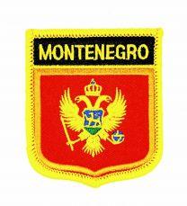 Parche Termoadhesivo Bandera escudo Montenegro 7x6 cm