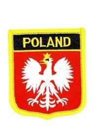 Parche Termoadhesivo Bandera escudo Polonia aguila 7x6 cm