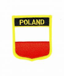 Parche Termoadhesivo Bandera escudo Polonia 7x6 cm