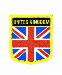 Parche Termoadhesivo Bandera escudo Reino Unido 7x6 cm
