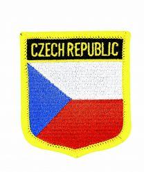 Parche Termoadhesivo Bandera escudo Rep Checa 7x6 cm