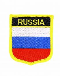 Parche Termoadhesivo Bandera escudo Rusia 7x6 cm