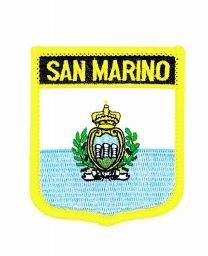 Parche Termoadhesivo Bandera escudo San Marino 7x6 cm