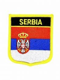 Parche Termoadhesivo Bandera escudo Serbia 7x6 cm