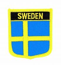 Parche Termoadhesivo Bandera escudo Suecia 7x6 cm