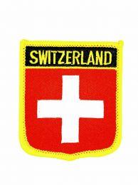 Parche Termoadhesivo Bandera escudo Suiza 7x6 cm