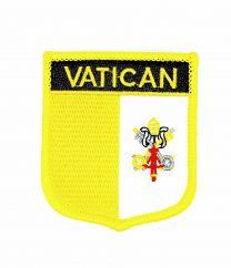 Parche Termoadhesivo Bandera escudo Vaticano 7x6 cm