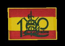 Parche Termoadhesivo Bandera España Legion Española 100 años 7,8x5cm