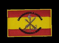 Parche Termoadhesivo Bandera España Legionarios a Luchar 7,8x5cm