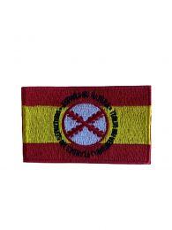 Parche Termoadhesivo Bandera España Lema Tercios de Flandes 8x5cm