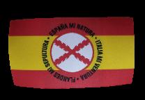 Parche Termoadhesivo Bandera España Lema Tercios de Flandes mod 2 8x4,5cm