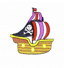 Parche Termoadhesivo Barco pirata 7x6,5 cm