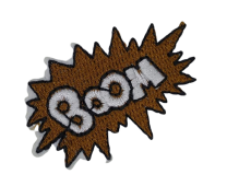 Parche Termoadhesivo Boom 5x3,5 cm