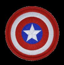 Parche Termoadhesivo Escudo Capitán América 8cm