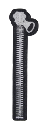 Parche Termoadhesivo Cremallera 13x3,5 cm