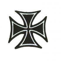 Parche Termoadhesivo Cruz Teutonica Negra 6,5 cm