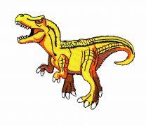 Parche Termoadhesivo Dinosaurio T-Rex 10x6cm
