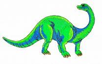 Parche Termoadhesivo Diplodocus 17x7cm
