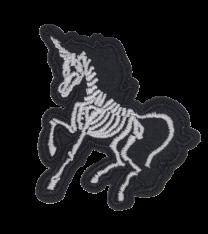 Parche Termoadhesivo Esqueleto Unicornio 7x6,5 cm