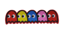 Parche Termoadhesivo Fantasmas Pacman 9,5x2,5 cm