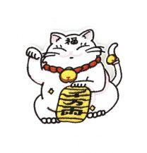 Parche Termoadhesivo Gato de la Suerte Modelo 2 8x7cm