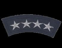 Parche Termoadhesivo General 4 Estrellas 8x2,5cm
