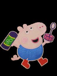 Parche Termoadhesivo Gigante George Pig Bubbles 18x15cm