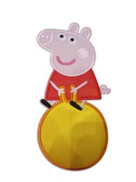 Parche Termoadhesivo Gigante Peppa Pig Pelota 20x10cm