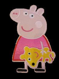 Parche Termoadhesivo Gigante Peppa Pig Peluche 21x12cm