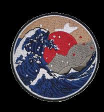 Parche Termoadhesivo Gran Ola de Kanagawa 8,5cm
