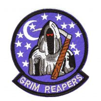 Parche Bordado U.S Air Force Grim Reapers 8cm