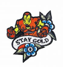 Parche Termoadhesivo Iron man stay gold 8x7,5 cm