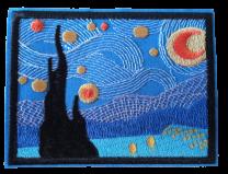 Parche Termoadhesivo La Noche Estrellada Van Gogh 9,5x7cm