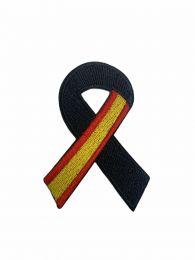 Parche Termoadhesivo Lazo Negro Bandera de España 7x5cm