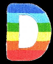 Parche Termoadhesivo Letra Letter D Arco iris 4 cm