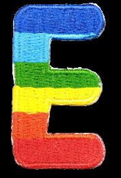 Parche Termoadhesivo Letra Letter E Arco iris 4 cm