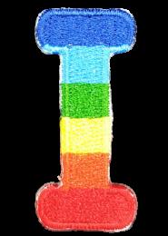 Parche Termoadhesivo Letra Letter I Arco iris 4 cm